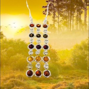 Jewelry - 🆕 Baltic Amber sterling pendant nklce, 13.8g